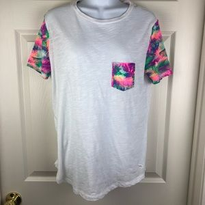 PINK Victoria's Secret Tropical Pocket T Shirt S
